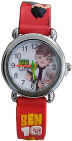 Ben 10 Red Color Analog Watch For Kids