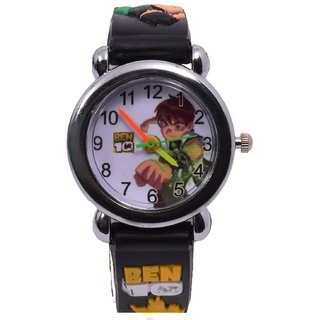 Nubela New Ben 10 Black Colour Analogue Watch For Kids ...