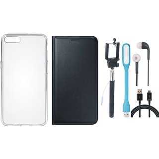 Coolpad Note 5 Cover with Silicon Back Cover, Selfie Stick, Earphones, USB LED Light and USB Cable