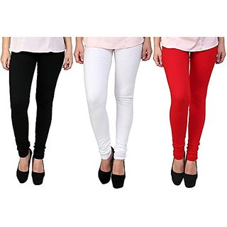 L.F.E Cotton Lycra Leggings for Women Combo (Pack of 3)