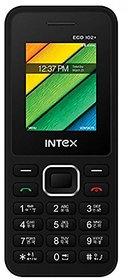 Intex Eco 102+ Dual Sim Mobile Phone Black