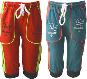 Eazy Trendz Stylish Pocket Pyjama for Boys & Girls Pack of 2 (We send Available Colors Only)