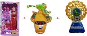 Doll and Playset With JalPari and Jhoola, Multi Color. 3 Toys (1 Doll,1 Toy JalPari and 1 Toy Jhoola)