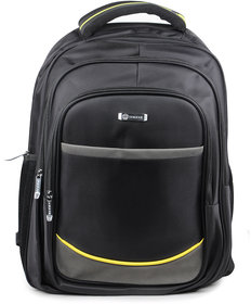 Unisex Black Laptop Backpack