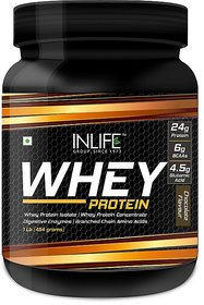 INLIFE Whey Protein Powder  Body Building Supplement(Chocolate, 1 lb/(454 grams))