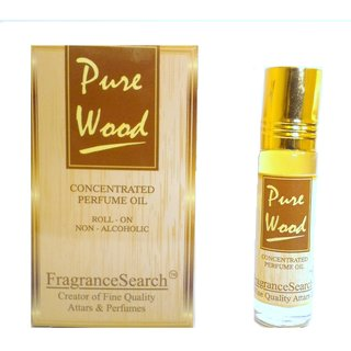 Fragrance Search Pure Wood 8Ml Perfume Oil/Attar Non Alcoholic