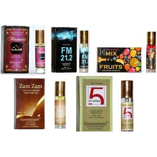 Fragrance Search Pack Of 5  8Ml Each Ma Fm M I Za 5A Perfume Oil/Attar Non Alcoholic