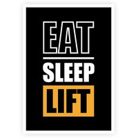 Lab No.4 Eat Sleep Lift Gym And Workout Inspirational Motivational Quotes Poster