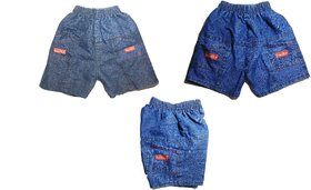 PURE COTTON JEAN SHORTS FOR KIDS / BOYS FOR THE AGES 06 - 08 YEARS)