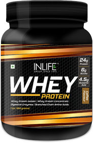 INLIFE Whey Protein Powder Body Building Supplement(CoffeeFlavour,1 lb/(454 grams))