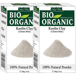 Indus Valley Bio Organic Kaolin Clay(China Clay) Powder-Set of 2