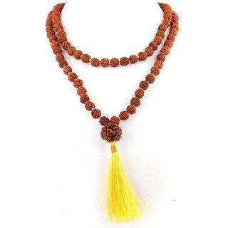 Origional 6mm Natural Rudraksha Japa Mala Wood Chain