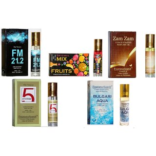 Fragrance Search Pack Of 5 8Ml Each Fm M I Za 5A Bu Perfume Oil/Attar Non Alcoholic