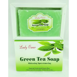 GREEN TEA SOAP FOR WHITENING  SPOTS REMOVING RECOVERY IN 7 DAYS