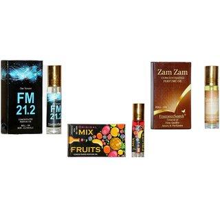 Fragrance Search Pack Of 3 8Ml Each Fm M I Za 8Ml Perfume Oil/Attar Non Alcoholic
