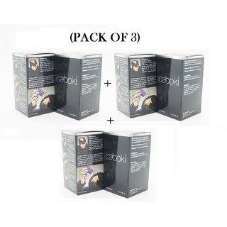 Caboki Hair Building Fibers 25Gm Pack Of 3 Black -Best Seller Best Quality At Best Rate