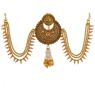 Anuradha Art Presenting Devsena Pattern Classy Royal Look This Designer Traditional Hair Brooch For Women/Girls