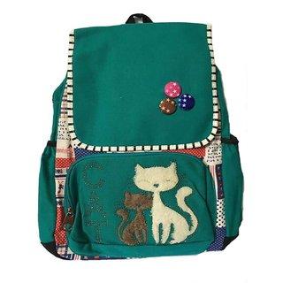 girls cute green backpack bag
