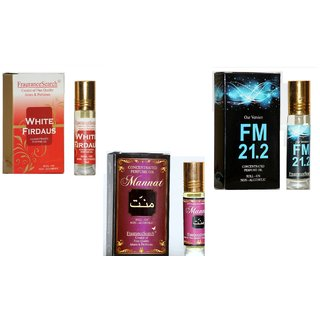 Fragrance Search Pack Of 3 8Ml Each Wh Ma Fm 8Ml Perfume Oil/Attar Non Alcoholic