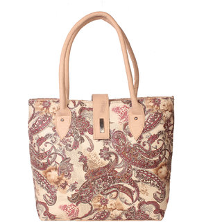 Zornna Cream Casual Handbags