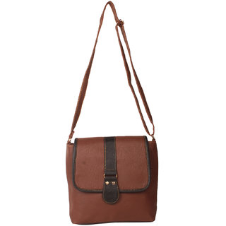 f9b73fb0586a Buy Zornna Brown Casual Slingbag Online - Get 50% Off