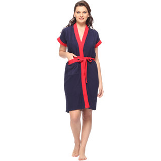 Vixenwrap Indigo Blue Solid Bath Robe