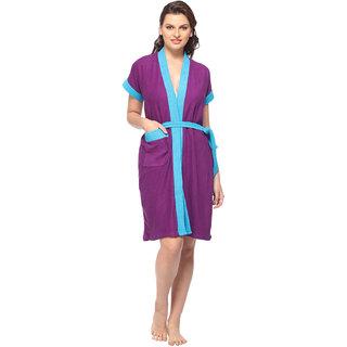 Vixenwrap Purple Solid Bath Robe