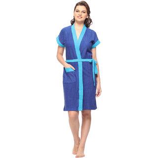 Vixenwrap Berry Blue Solid Bath Robe