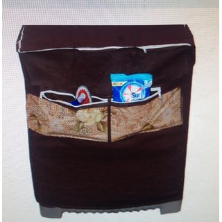 Dreams Home Washing Machine Cover With Front Pockets brown