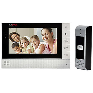 CP PLUS 7 Touch Screen Color Video Door Phone KIT (One Year Warranty)
