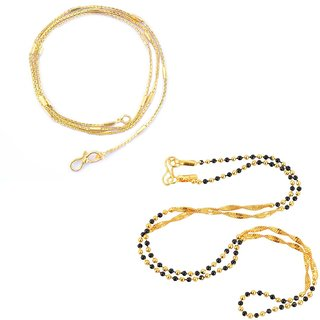 Combo of Mangalsutra and Brass Chain for women by Beadworks