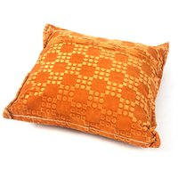 Glitz Home Square Shape Yellow Velvet Pillow