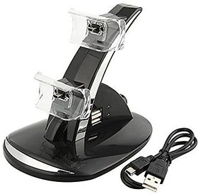 Generic USB LED Fast Charging Adapter Stand Dock Station for Dual Xbox One Game Controller