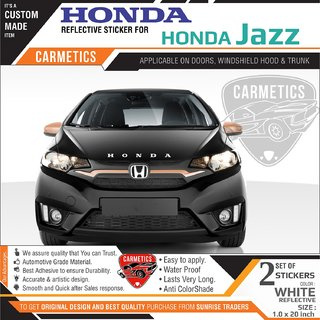 Honda Stickers for Honda Jazz - WHITE 2Pcs - CarMetics