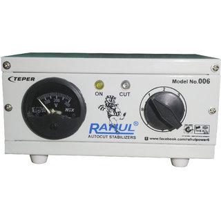 Rahul 006 a 300 VA 140-280 Volt 1 CRT TVMusic System + DVD/DTH Autocut Voltage Stabilizer