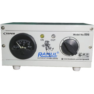 Rahul 006 c 300 VA 140-280 Volt 1 LCD/LED TV + DVD/DTH/Home Theatre Autocut Voltage Stabilizer
