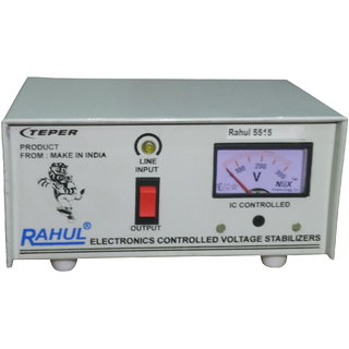 Rahul 5515 a 415 VA 140-280 Volt 1 LCD/LED TV +DVD/DTH/Music System Automatic Voltage Stabilizer