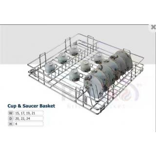 Cup saucer kitchen basket ( 21-22-4 inch ) stainless steel basket