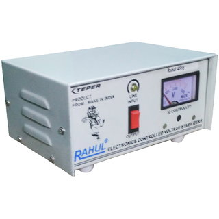 Rahul 6515 c 500 VA 140 Volt LCD/LED TV 42 + /Music System/Refrigerator 90 Ltr to 180 Ltr Automatic Voltage Stabilizer