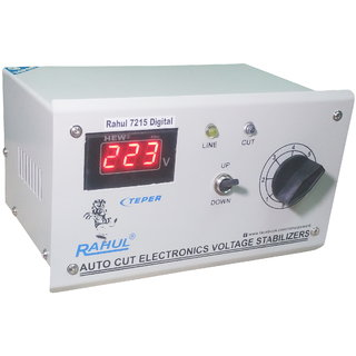 Rahul 7215 a Digital 600 VA/2 AMP 90-260 VOLT 1 Air Coolers Autocut Voltage Stabilizer