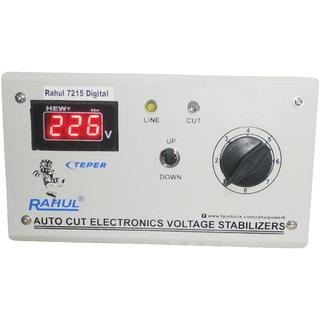 Rahul 7215 c Digital 600 VA/2 AMP 90-260 VOLT 1 Air Coolers Autocut Voltage Stabilizer