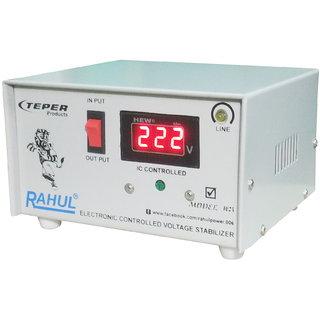 Rahul 1023 c Digital 600 VA/2 AMP 140-280 Volt 1 Refrigerator 90 Ltr to 185 Ltr 3 Step Auto Matic Digital Voltage Stabil
