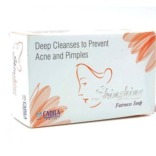 Skin-shine Fairness Soap for Deep Cleanses to prevent Acne Pimples 75g( set of 5 pcs.)
