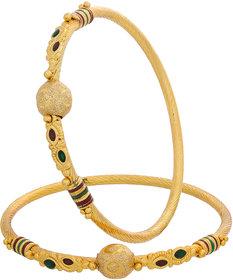Designer Regular Wear Gold Plated Bangles BG-1965
