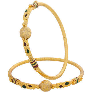 Designer Regular Wear Gold Plated Bangles BG-1965