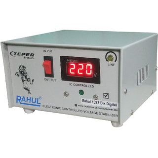Rahul 1023 DLX a Digital 700 VA/2.5 AMP 3 Step 1 Washing Machine/Refrigerator 90 Ltr to 220 Ltr Auto Matic Stabilizer