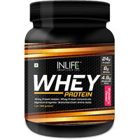 INLIFE Whey Protein Powder 1 Lbs(Strawberry Flavour)