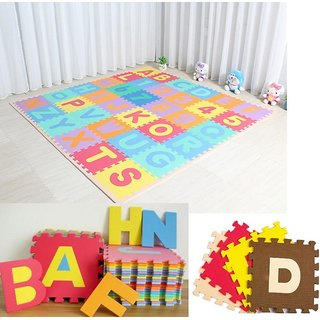 SHRIBOSSJI KIDS PLAY BIG MAT COLORFUL PUZZLE FOAM TEACHING TOOLS TOY MATS KIDS 26 PCS ALPHABET FOR KIDS GIFT TOY