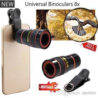 Shutterbugs Clip-on 8x Zoom Telescope Camera Lens
