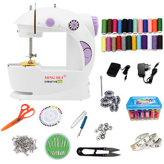 CreativeVia 30in1 Portable Compact With Stapler Machine Mini Sewing Machine